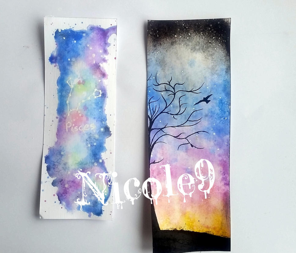 Watercolor bookmarks by Nicole9 by Rose1234567890