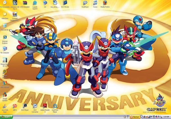 Megaman 20 Anniversary Desktop