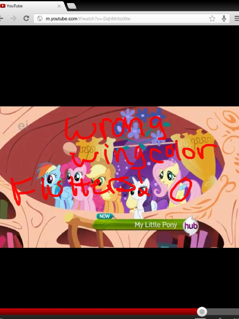 Mlp bloopers! U have the wrong wing color flutters by Hershey78 on ...