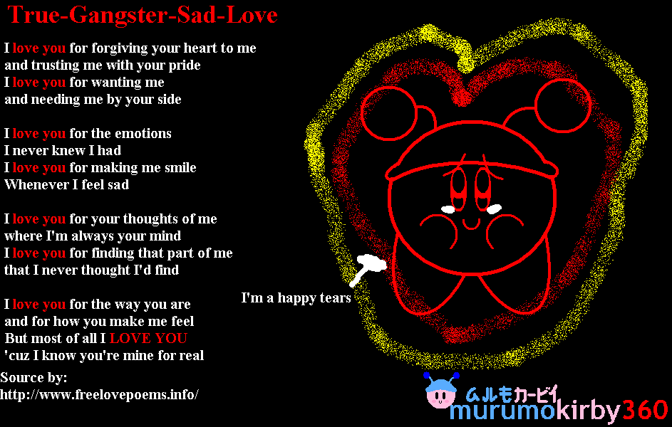 True-Gangster-Sad-Love by murumokirby360