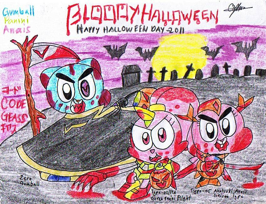 bloody halloween by murumokirby360 - The Amazing World Of Gumball The Halloween