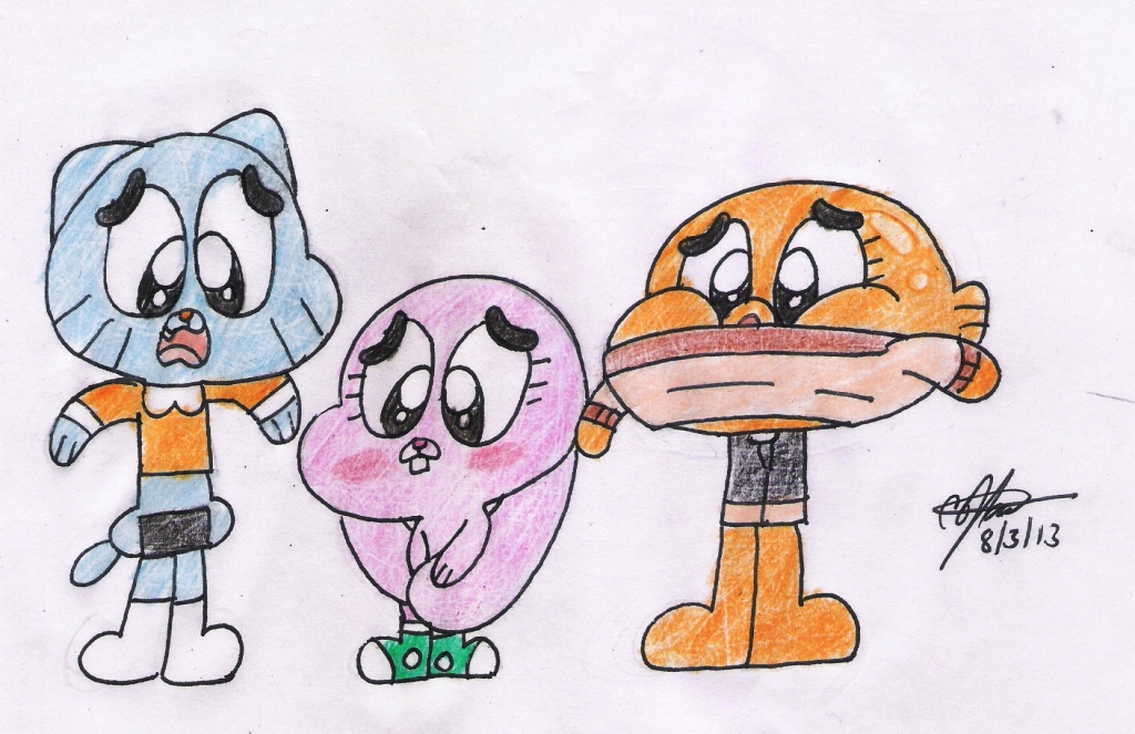 Gumball, Darwin and Anais - swapping problem Part1 by murumokirby360