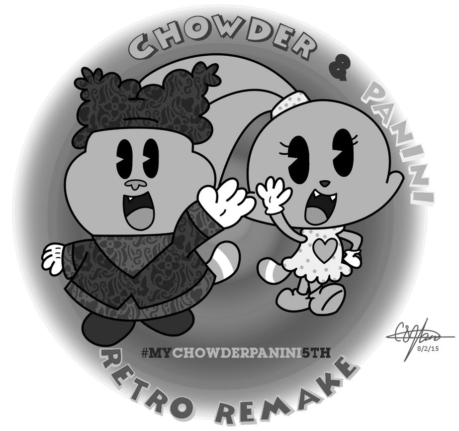 REmake - Chowder and Panini Retro GIMP Gray-scale by murumokirby360