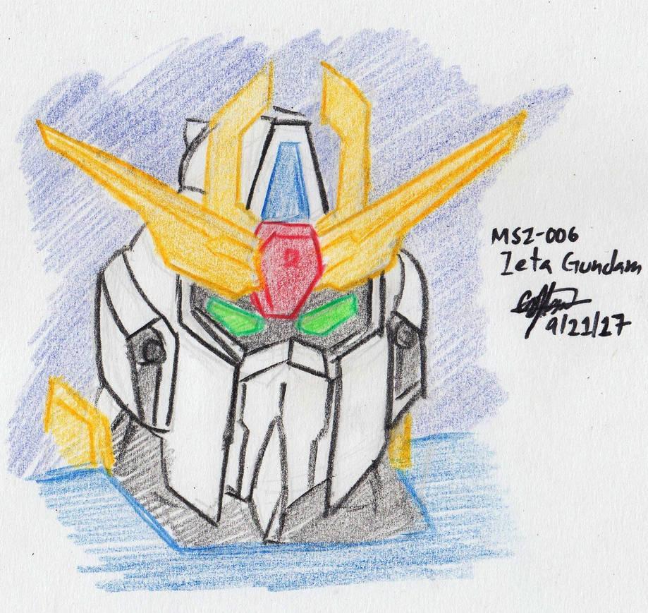 Colored Sketched 010 Zeta Gundam Head By Murumokirby360 On Deviantart