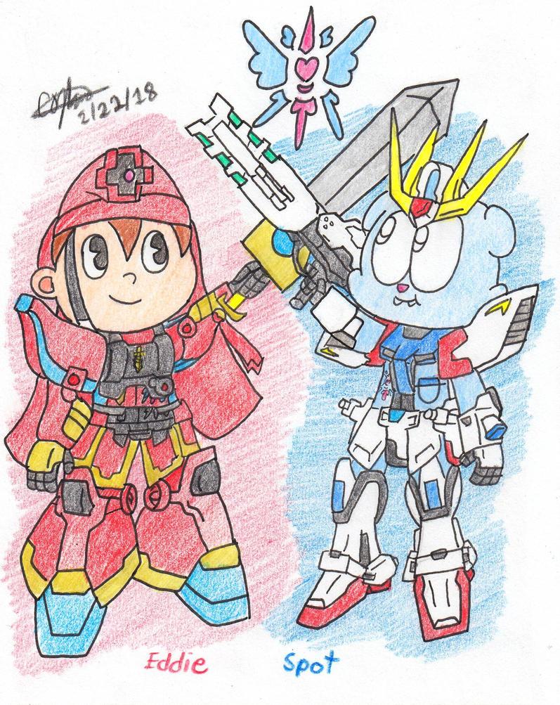 Unite weapons - Eddie and Spot by murumokirby360