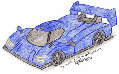 Colored Sketched 026 - My Inspired LMP Car