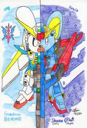 Gundam BEYOND - Shane and Flat by murumokirby360