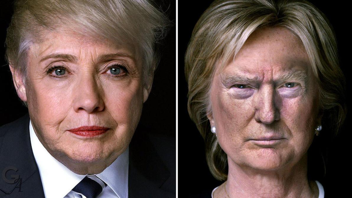 clinton trump face swap by jwalt99 on deviantart