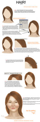 How to draw hair...