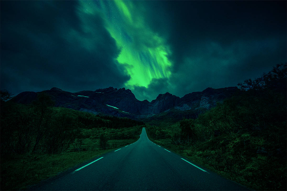 The road to Nusfjord