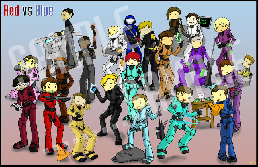 Red vs Blue Compilation by Marli ...