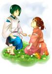 Spirited Away- Haku and Chihiro [Fanart]
