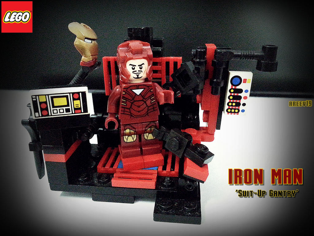 MOC 'Suit-Up Gantry' LEGO Iron Man by areev19 on DeviantArt  Lego
