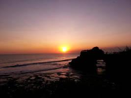 Sunset at Tanah Lot, Bali by areev19