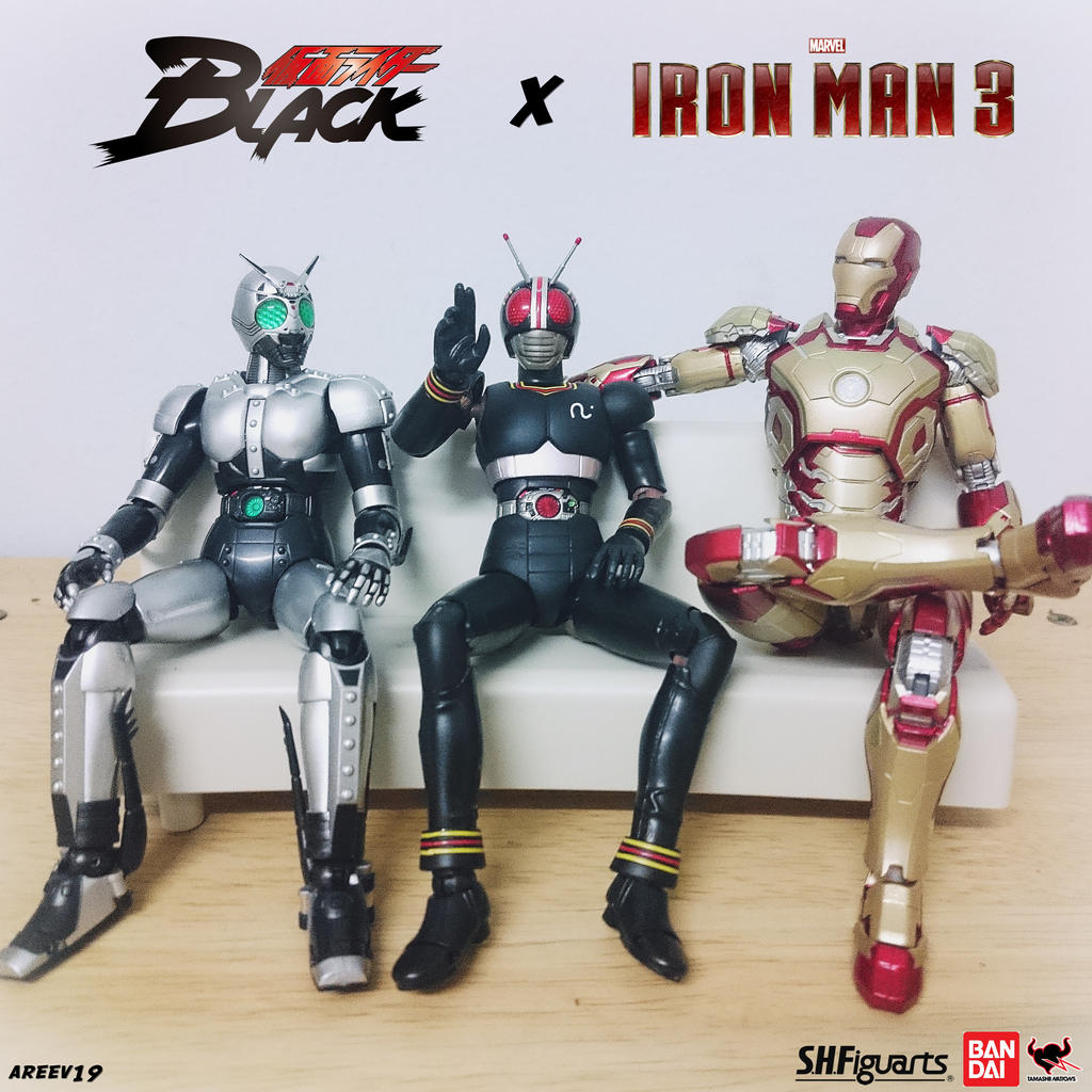 SHFiguarts Kamen Rider Black x Iron Man MARK 42 by areev19