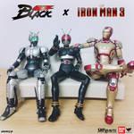 SHFiguarts Kamen Rider Black x Iron Man MARK 42