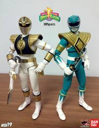 SHFiguarts White Ranger x Green Ranger by areev19