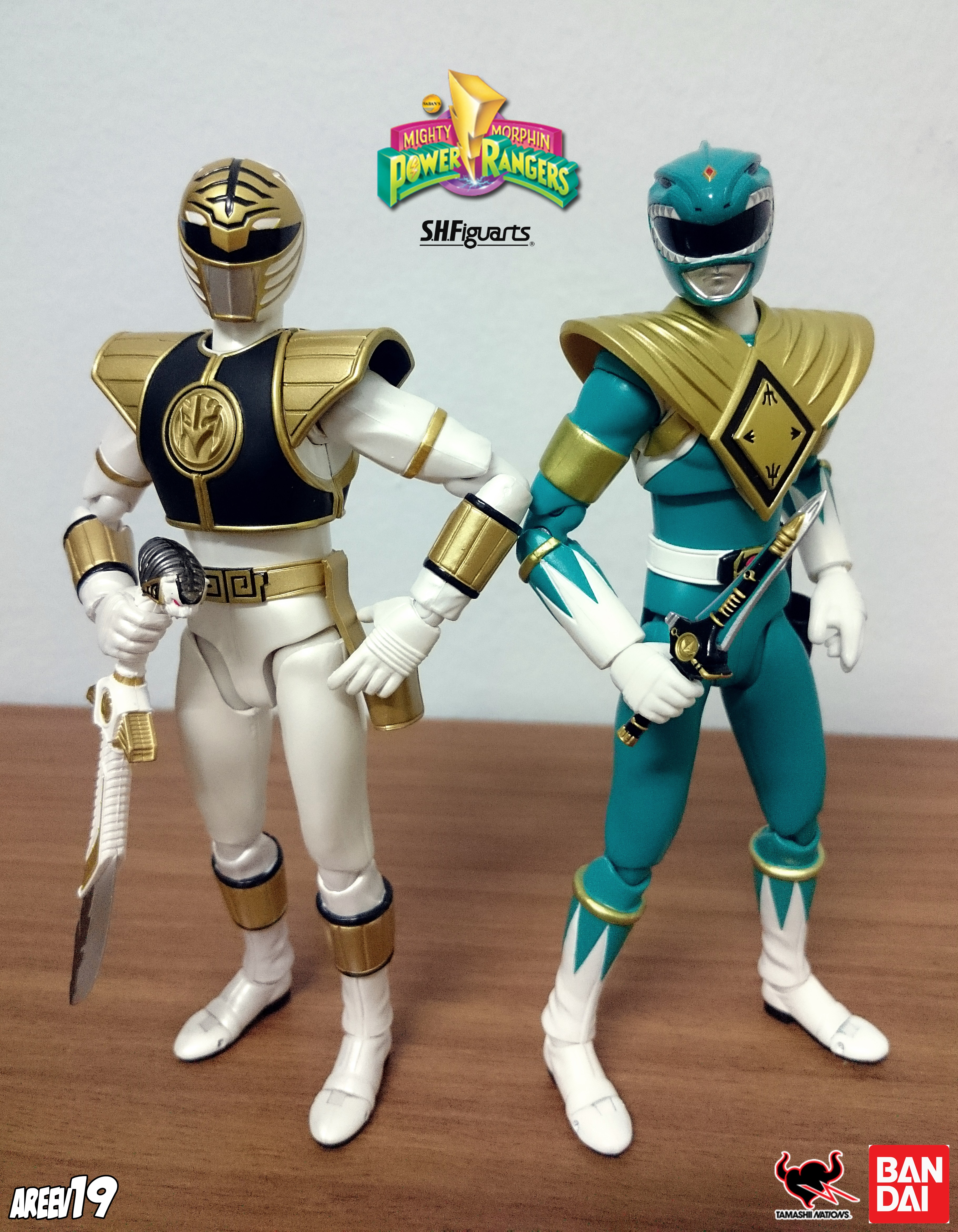 SHFiguarts White Ranger x Green Ranger by areev19