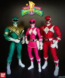 Green Ranger x Pink Ranger x Red Ranger