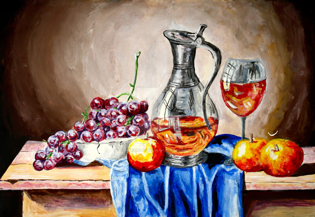 Still Life with Grapes by ClareAmyJoyHurley