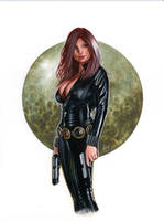 Black Widow Bw027 by AlexMirandaArt