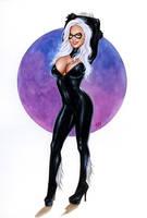 Black Cat Bw493 by AlexMirandaArt