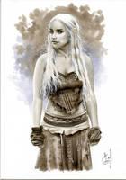 Daenerys Targaryen Bw691 by AlexMirandaArt