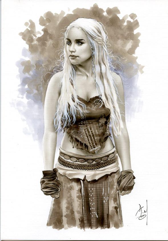 Daenerys Targaryen Bw691 by AlexMirandaArt on DeviantArt