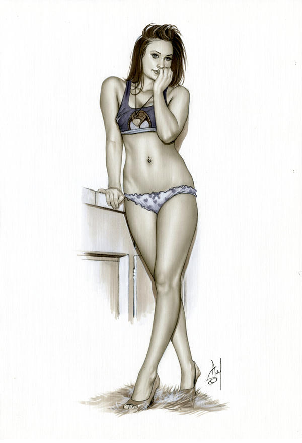MARY JANE Bw760 by AlexMirandaArt