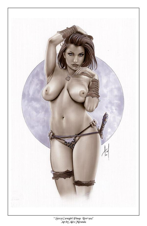 Cavegirl Bw902 by AlexMirandaArt