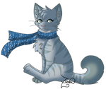 Silver....in a scarf
