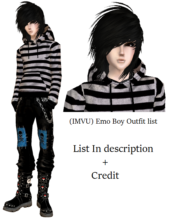 imvu emo boy outfit list read description by drunkhorse inn on