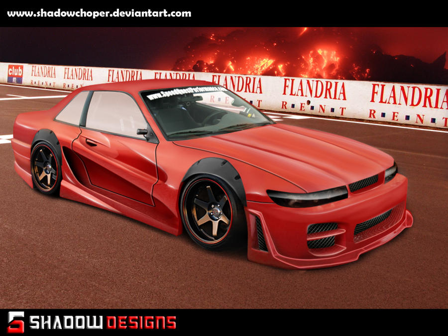nissan s13 RED DEVIL by shadowchoper