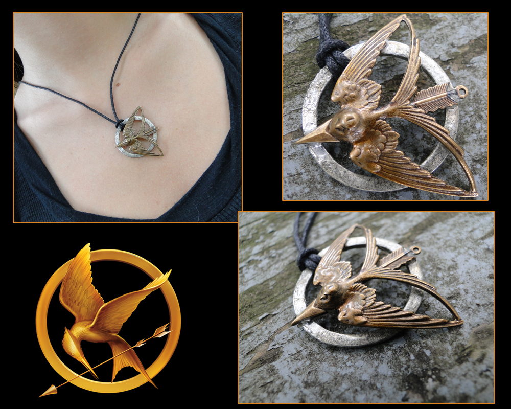 Hunger Games Inspired Pendant by TheClockworkCrow