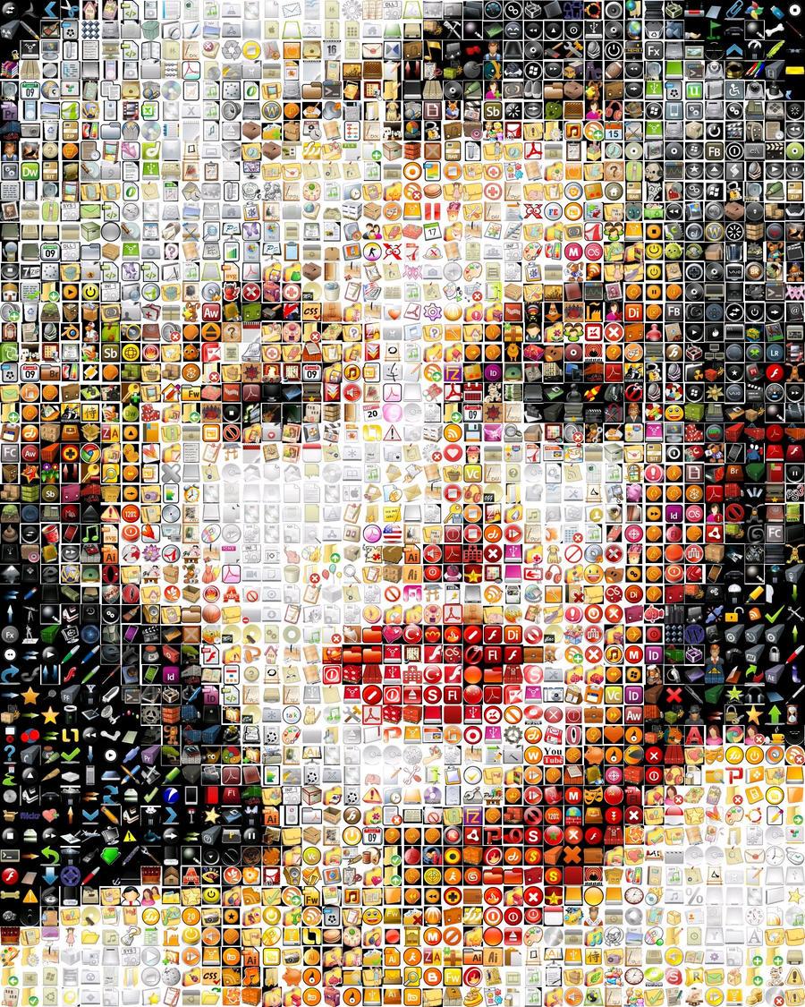 Marilyn Monroe mosaic by Cornejo-Sanchez