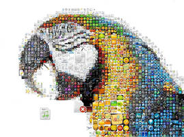 Parrot Mosaic by Cornejo-Sanchez