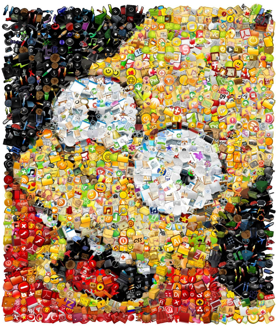 Bart Simpson Mosaic by Cornejo-Sanchez