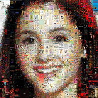 Ariana Grande Mosaic by Cornejo-Sanchez