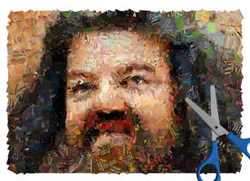 Rubeus Hagrid Mosaic by Cornejo-Sanchez