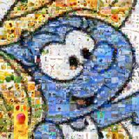 Smurfette Mosaic by Cornejo-Sanchez