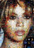 Beyonce Mosaic 2 by Cornejo-Sanchez