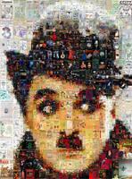 Charles Chaplin Mosaic 2 by Cornejo-Sanchez