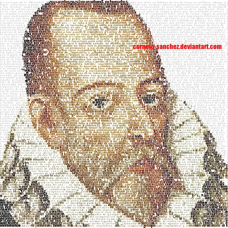 Cervantes Don Quixote Mosaic by Cornejo-Sanchez
