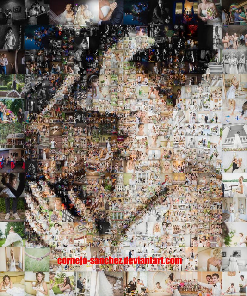 Wedding Kiss Mosaic by Cornejo-Sanchez