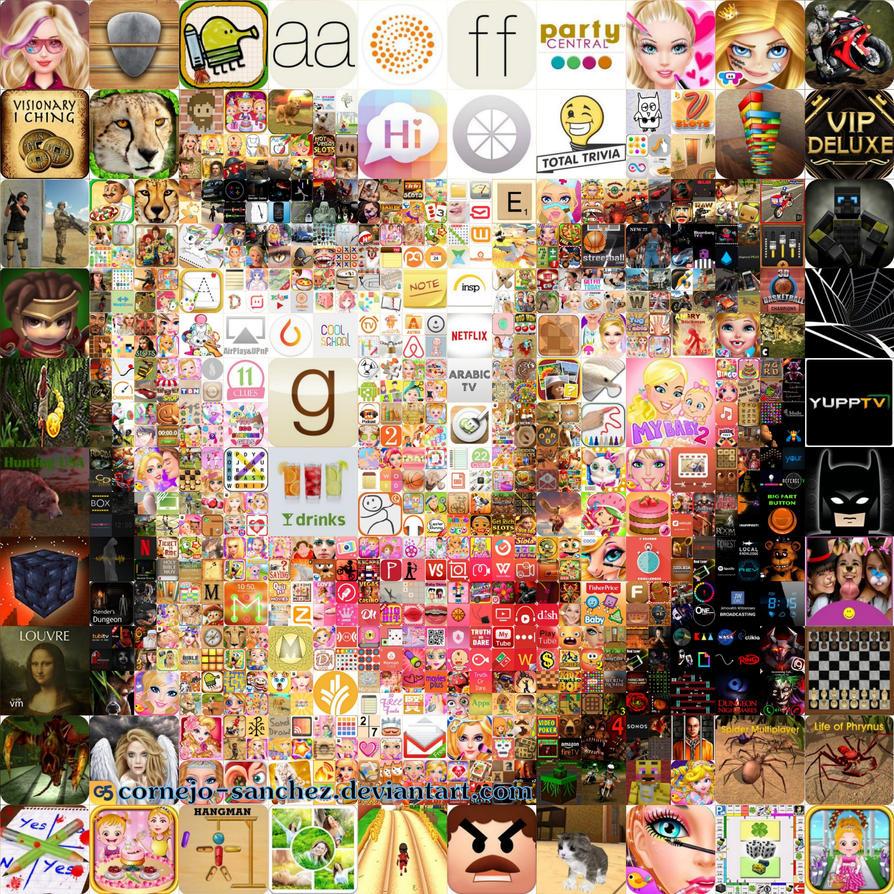 App Girl Mosaic by Cornejo-Sanchez