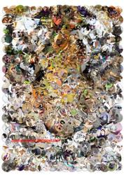 Tiger face mosaic (Cats version) by Cornejo-Sanchez