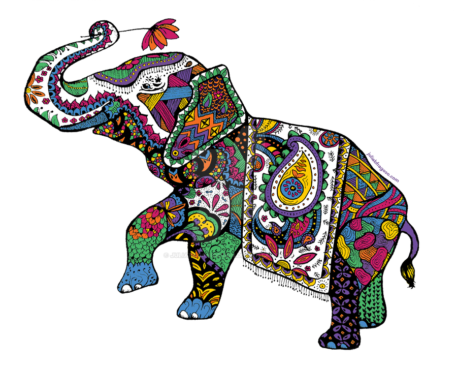 Aninimal Book: Elephant zentangle by juliapaganidesign on DeviantArt