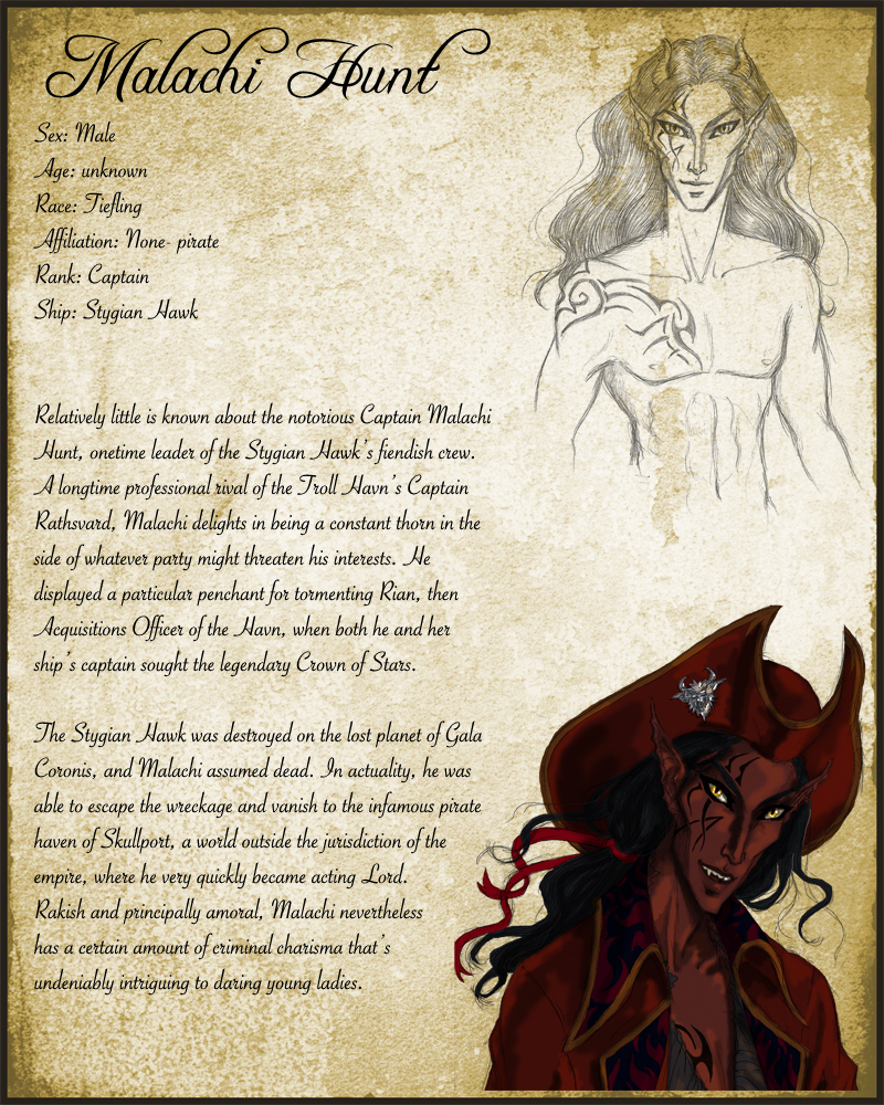 Malachi: Character Sheet by temiel