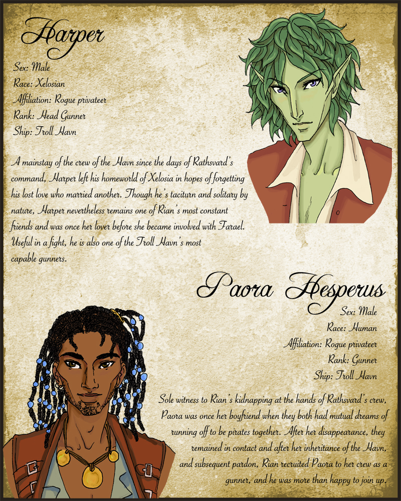 Harper+Paora: Character Sheet by temiel