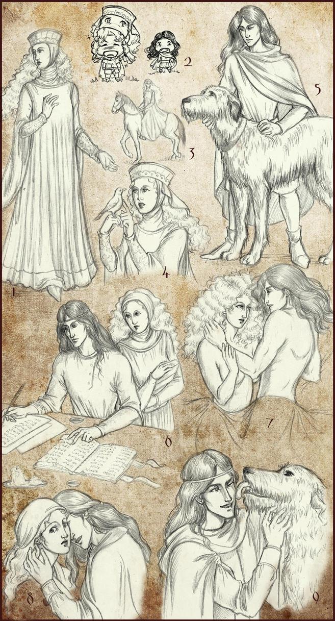 Vampire Dark Ages sketchdump 4 by temiel